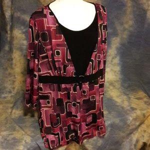 Lane Bryant Mid sleeve printed Blouse. Size 1X